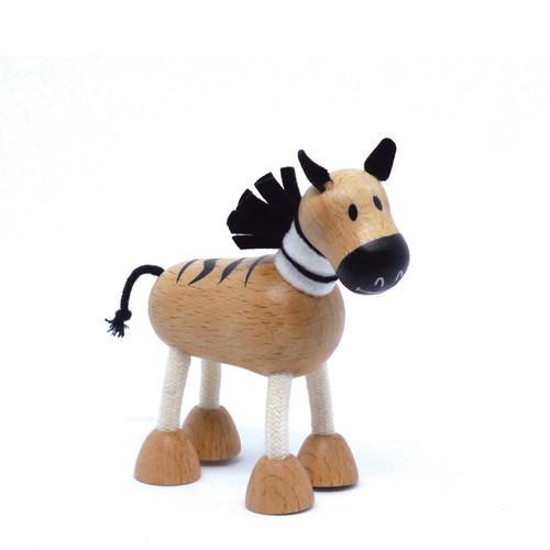 Anamalz Zebra Wooden Animal Toy 17851