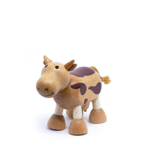 Anamalz Cow Wooden Animal Toy 18247