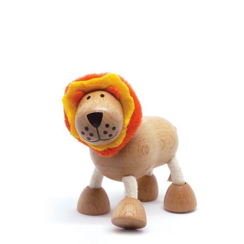 Anamalz Lion Wooden Animal Toy 17905