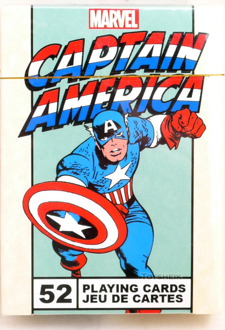 Marvel Playing Cards Captain America Man vintage NMR 522503