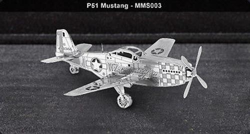 Metal Earth P51 Mustang 3D Metal  Model + Tweezer  010039