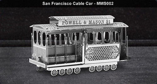 Metal Earth San Francisco Cable Car 3D Metal  Model + Tweezer  010022