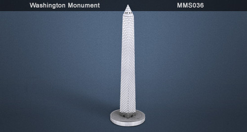Metal Earth Washington Monument 3D Metal  Model + Tweezer  010367