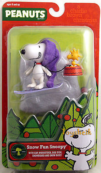 Peanuts Christmas Snow Fun Snoopy figure Round 2 005316