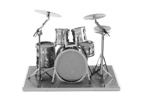 Metal Earth Drum Set 3D Metal  Model + Tweezer  010763