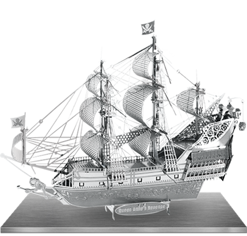 ICONX Queen Anne's Revenge 3D Laser Cut Model Fascinations 013092