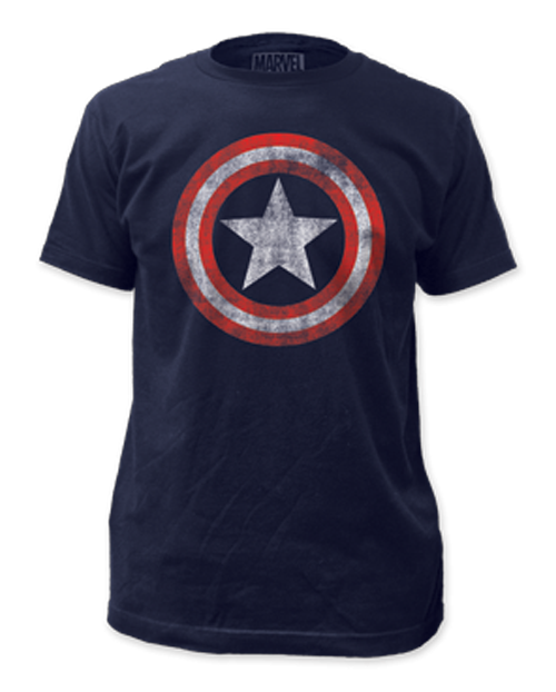 Marvel Distressed Captain America Shield T-Shirt small