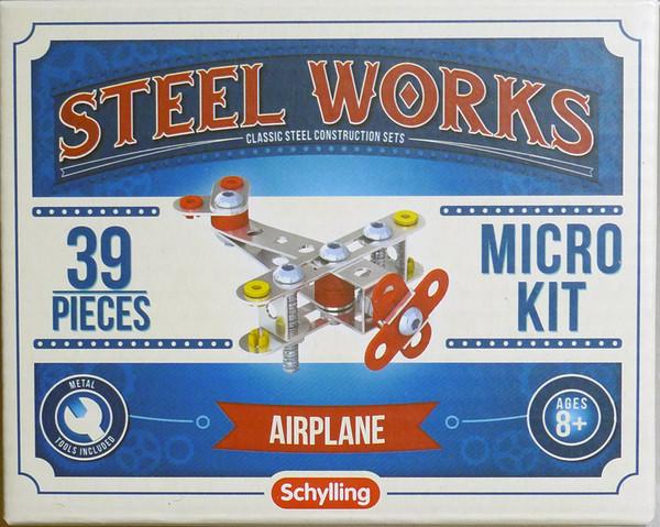 Steel Works Airplane Micro Building Kit 39pcs 33168
