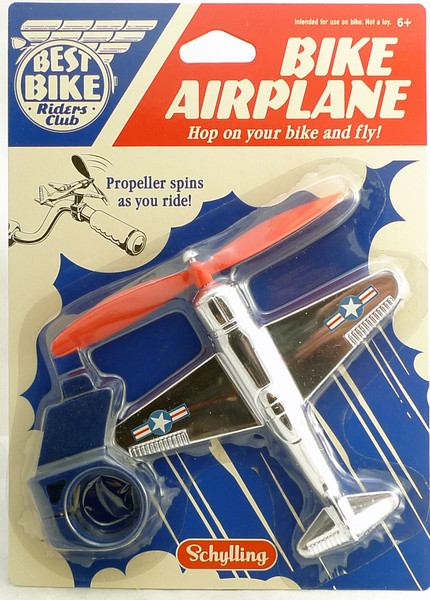 Bike Airplane for Handlebar with Spinning Propeller 11128