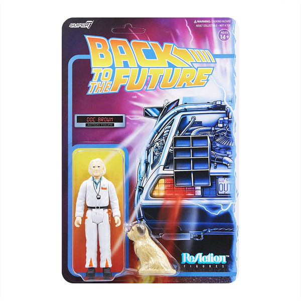 Back To the Future ReAction Wave 2 Doc Brown figure Super 7 08003