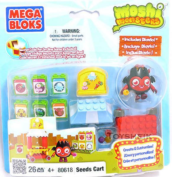 Moshi Monsters Megabloks Playset Seeds Cart 26 pieces 806184
