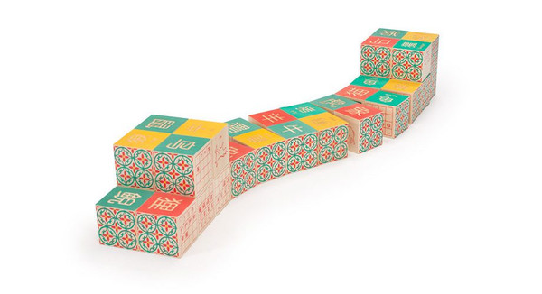 Uncle Goose Chinese Character Wooden Blocks 001247