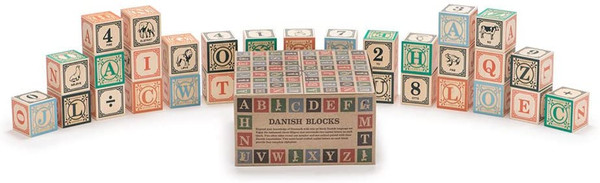 Uncle Goose Danish ABC Wooden Blocks Lindenwood 41144