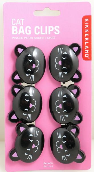 Cat Bag Clips by Kikkerland 068636