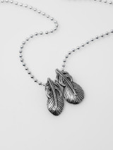 Good Art Sterling Silver Feather Pendant