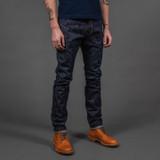 PBJ AI-019 17.5 oz. Natural Indigo Jeans - Relaxed Tapered