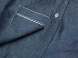 Iron Heart Indigo 5 oz. Cotton Linen Chambray Work Shirt