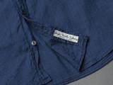 UES Band Collar Indigo Shirt