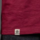 Momotaro MT302 Zimbabwe Cotton T Shirts - Burgundy - Stripe