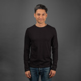 Merz b. Schwanen 1950s Organic L/S T Shirt - Black