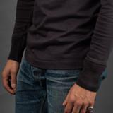 Merz b. Schwanen 2 Thread 206 Heavyweight Organic Henley - Charcoal