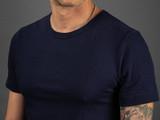 Merz b. Schwanen 2 Thread 215 Heavyweight Organic T Shirt - Ink Blue