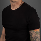 Merz b. Schwanen 2 Thread 215 Heavyweight Organic T Shirt - Black