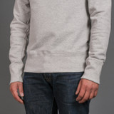 Merz b. Schwanen 346 Heavyweight Crew Neck Sweater - Grey