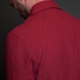 Nine Lives Replicant Raglan Western - Barnyard Red Belgian Linen