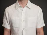 Nine Lives Marshall Islander SS Shirt - Oyster Belgian Linen