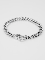 Good Art Curb Chain #4 Bracelet w/Clip 9 - Sterling Silver