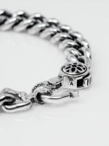 Good Art Curb Chain #6 Bracelet w/Clip 9 - Sterling Silver