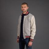 Dehen Leather & Wool Varsity Jacket - Oxford