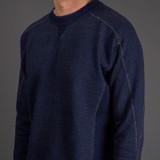 Pure Blue Japan Heavyweight Knit Twill Indigo Sweatshirt