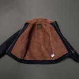 Iron Heart Whipcord Alpaca Lined N1 Deck Jacket - Indigo