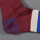 Stevenson Overall Co. Athletic Socks - Burgundy