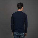 Pure Blue Japan Slub Jersey L/S Indigo T Shirt
