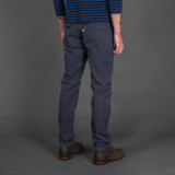 Pure Blue Japan Whipcord Military Pants - Navy