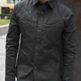 Nine Lives Twisted Heather Cotton Replicant Shirt - Black