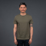 Merz b. Schwanen 2 Thread 215 Heavyweight Organic T Shirt – Army
