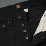 Indigofera Nash Gunpowder Selvedge High Tapered Jeans