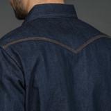 Iron Heart 12 oz. Selvedge Denim Western Shirt - Natural Indigo
