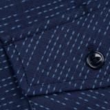 Rogue Territory Oxford Workshirt - Navy X Stitch Sashiko
