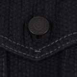 Pure Blue Japan Double Black Sashiko Type III Jacket