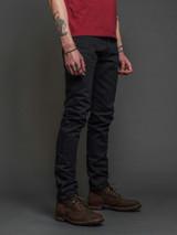 Indigofera Nash Thunderblack Selvedge High Tapered Jeans