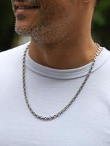Good Art Sterling Silver Pequeño A Mano Chain