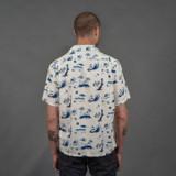 Momotaro 06-091 Original Print Hawaiian Shirt - White