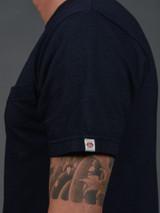 UES Indigo Crew Neck Pocket T-Shirt