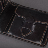 The Flat Head Shell Cordovan Small Wallet - Black