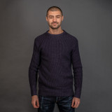 """Nine Lives """"Knit Flows Like Water"""" Sweater - Navy"""